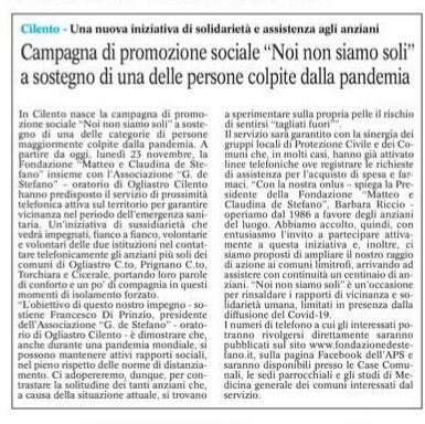 Articolo-Le-Cronache-25-11-2020-su-NoiNonSiamoSoli