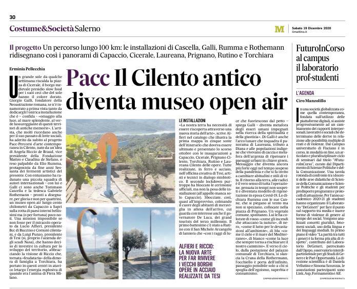 Articolo Costume e Società Salerno - Pacc