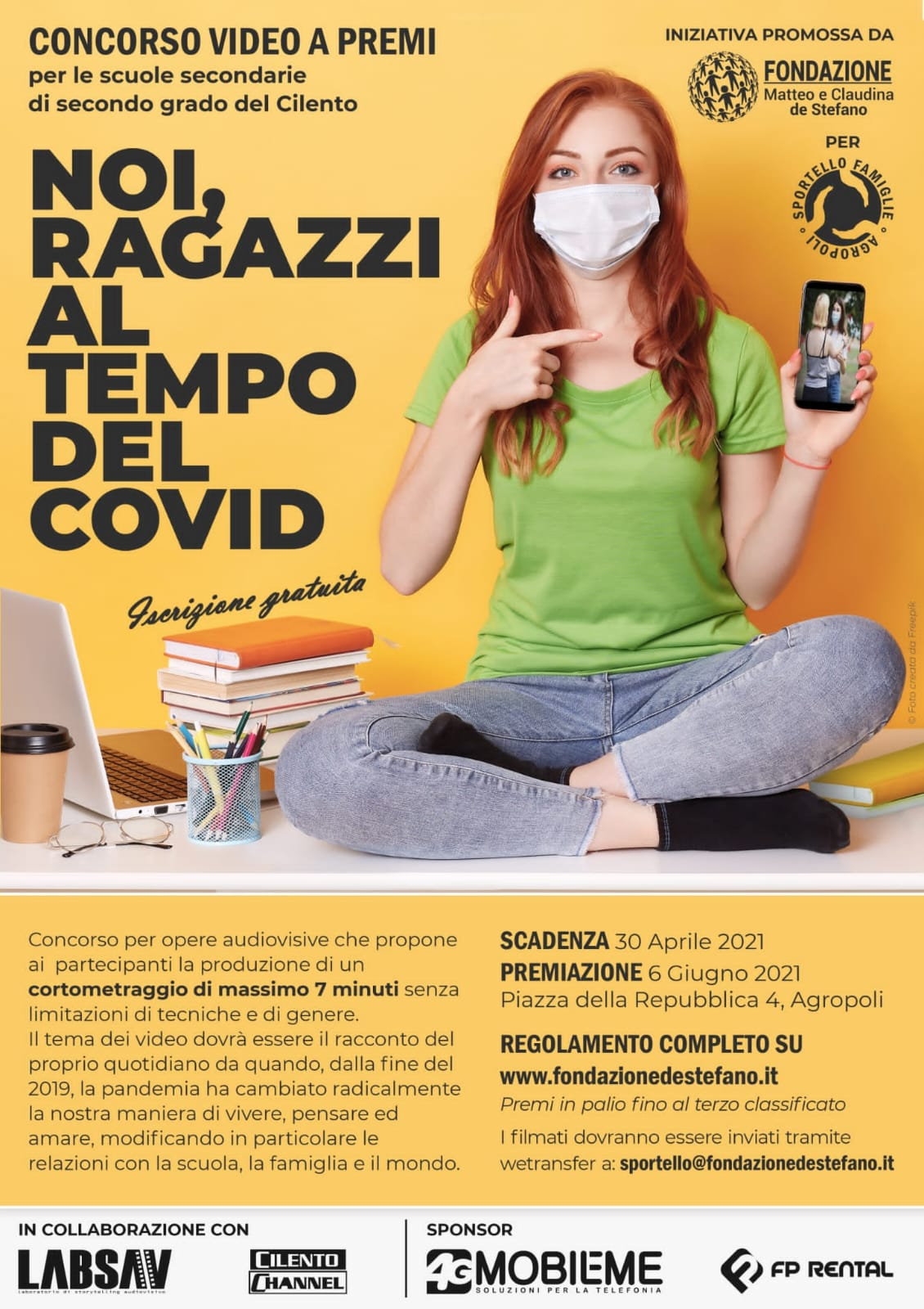 Locandina 2 concorso scuole: Noi, ragazzi al tempo del Covid
